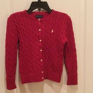 Ralph Lauren Polo Girls Red Sweater